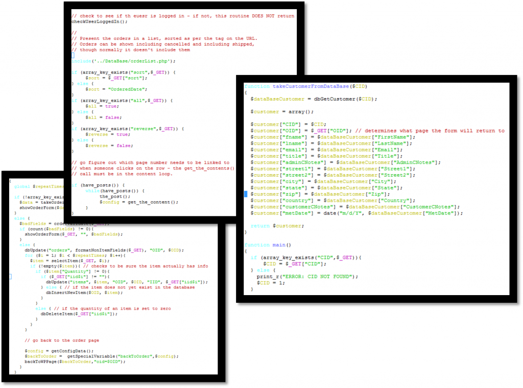 Web Code Collage